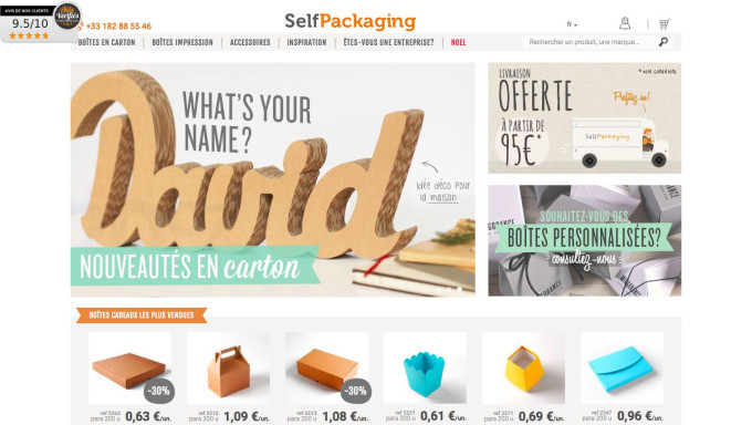 Selfpackaging.fr : page d'accueil